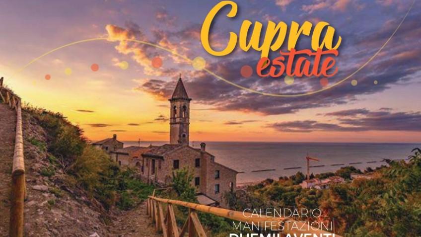 Locandina eventi estate 2020 Cupra Marittima